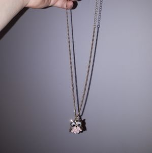Ardene Jewelry - Best friend  pink owl necklace